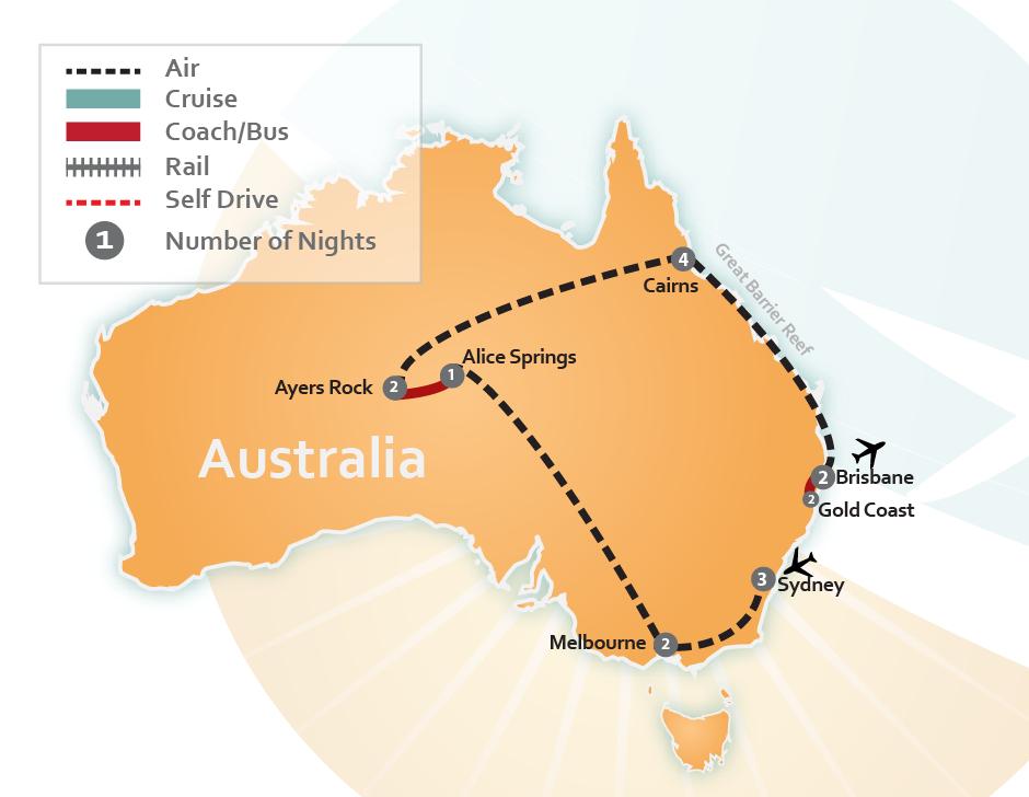 Sydney to brisbane distance by air