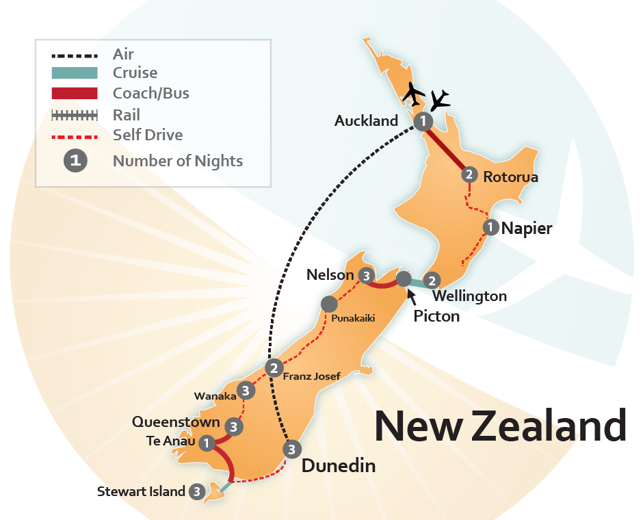 The Grand Tour of New Zealand [ST-4031A]