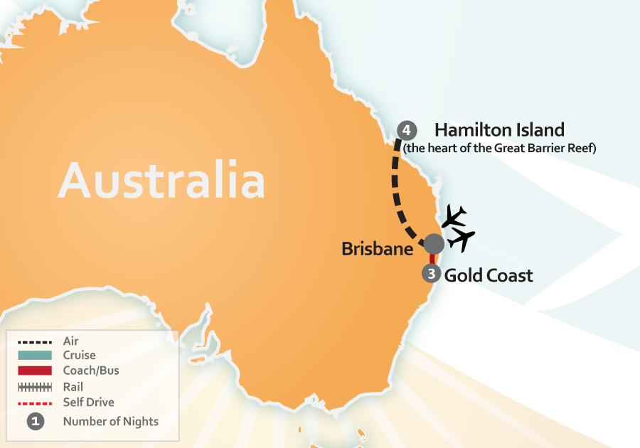 Hamilton Island Australia Map.Hamilton Island And Gold Coast St Ta86