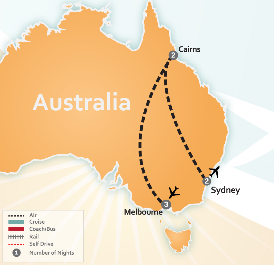 Australia Vacation Deal Map