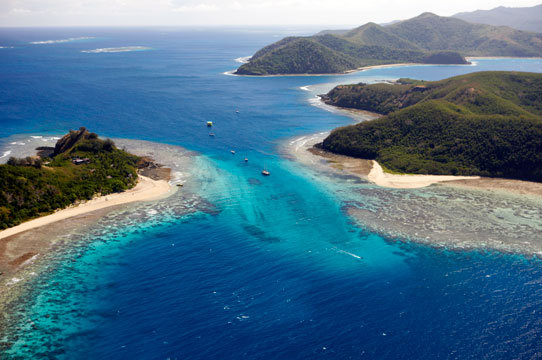 Fiji vacations - Spectacular aerial views