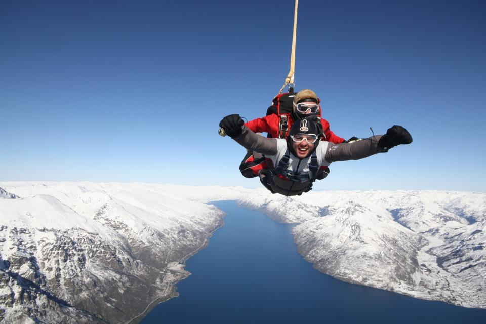 Sky Diving, Queenstown, New Zealand