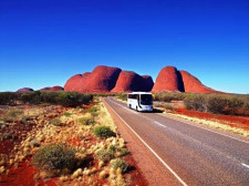 Coach to Ayers Rock, Alice Springs, Australia