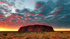 Sunrise and Cultural Walk, Ayers Rock, Australia