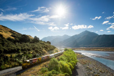 Train to Greymouth, Christchurch, New Zealand