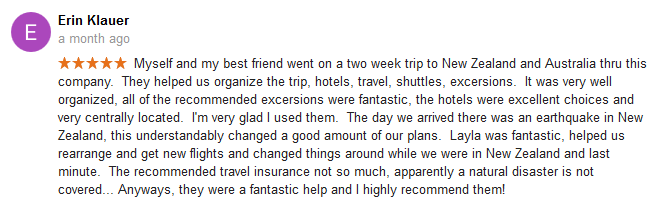 Australia Travel Agent Review