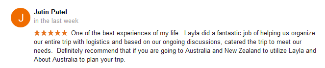 Austraia Travel Agent Review