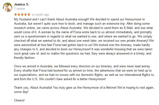 About Australia Travel Agency Reviews