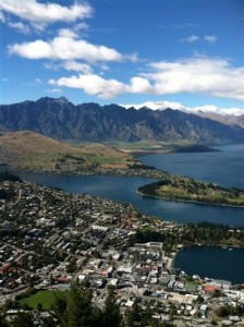 View from the Gondola in Queenstown New Zealand