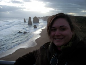 Alicia on the Great Ocean Road at Sunset