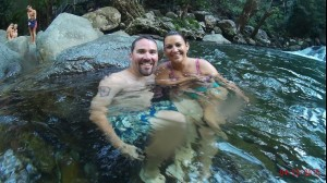 Swimming at Josephine Falls