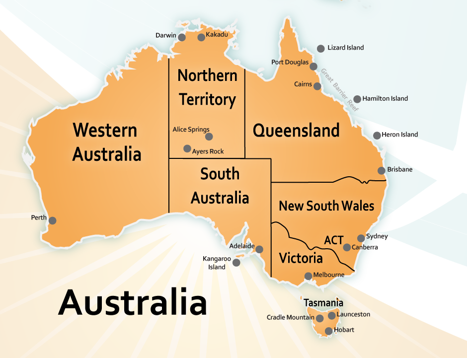 What Does Australia Look Like On A Map.What To Do In Australia Explore Tours And Attractions About