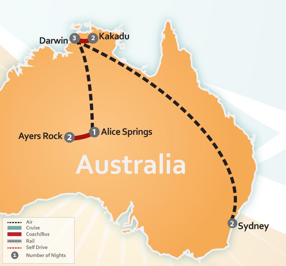 Australian Outback Adventure Ayers Rock Amp Sydney Deal