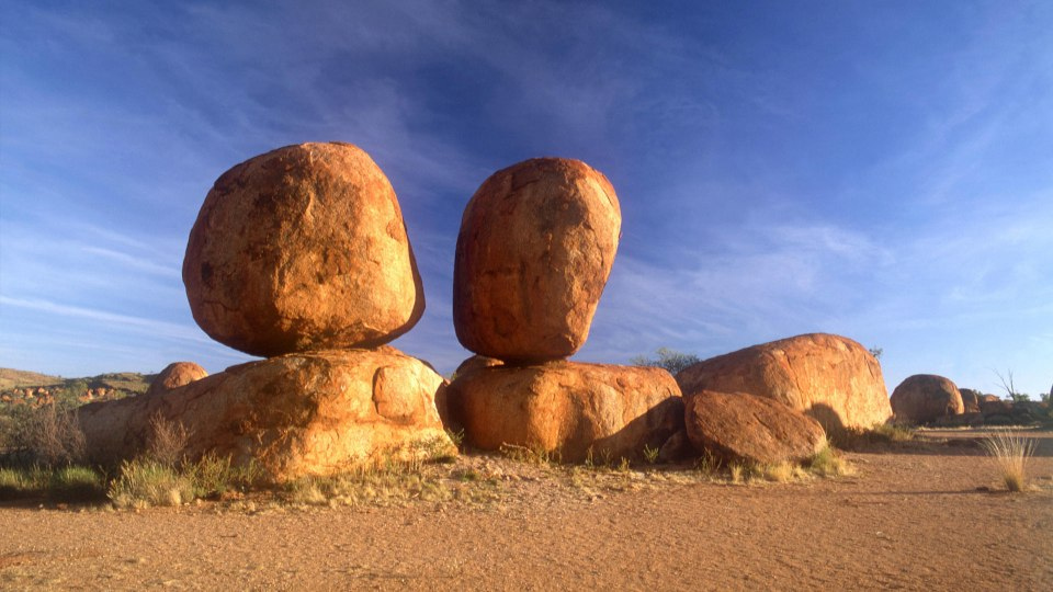 Devil's Marbles in Tennat Creek Outback Australia