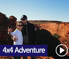 Journey along the Red Centre Way in the Northern Territory, navigating through Uluru (Ayers Rock) and Kata Tjuta (The Olgas), Watarrka National Park (Kings Canyon), West MacDonnell Ranges, Simpson Desert, and Alice Springs.