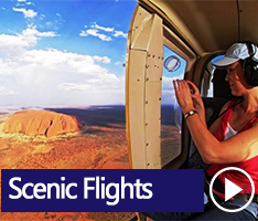Scenic Flights over Ayers Rock. Your bird's eye view will take in Uluru and the magnificent red desert, all the way to the striking rock formations of Kata Tjuta, the waterhole Mutitjulu and the surrounding desert; a panorama of breathtaking scenery.