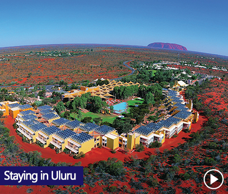 The township of Yulara supports Ayers Rock Resort where visitors to Uluru-Kata Tjuta National Park are accommodated. The resort features different levels of accommodation from hotel, apartment style, budget and camping.