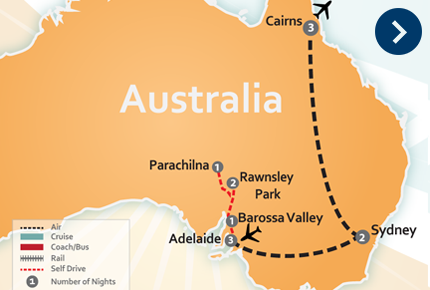 14 Days - Wildlife,  Wine Country,  Outback & Icons  From $1,895*