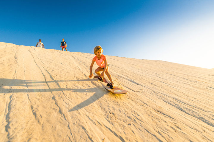 Sandboarding in the Little Sahara