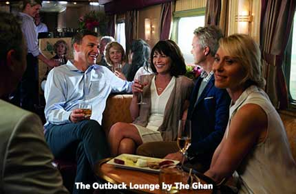 Relaxing on the Ghan Outback Adventure
