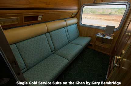 Gold Service on The Ghan