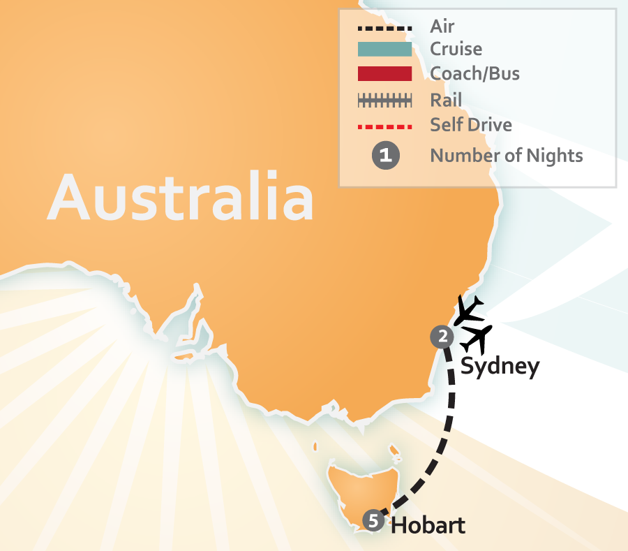 Australia Travel Deal Map