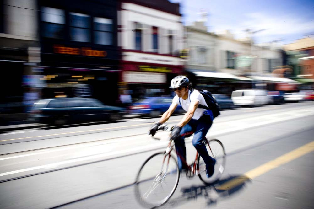 Downtown Melbourne Cyclist