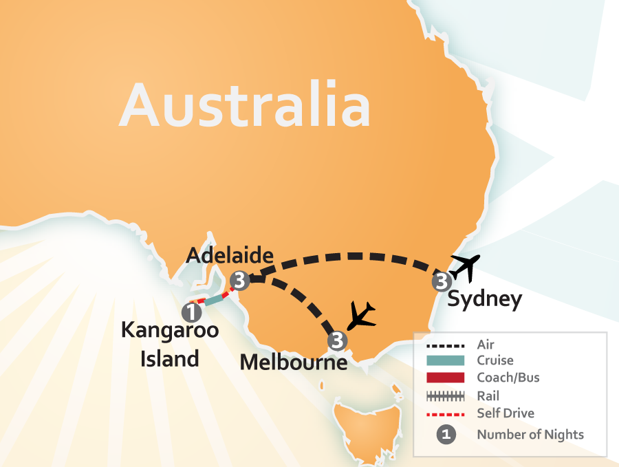 Australia Travel Deal Map