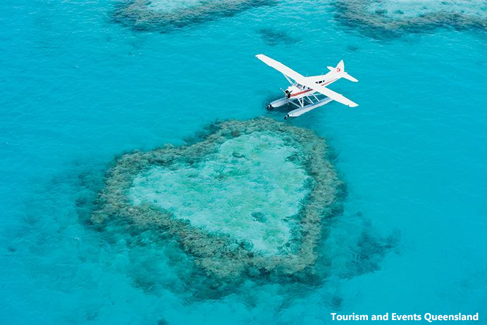 Heart Reef by Plane