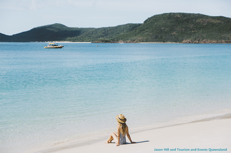 Relaxing on Whitehaven Beach