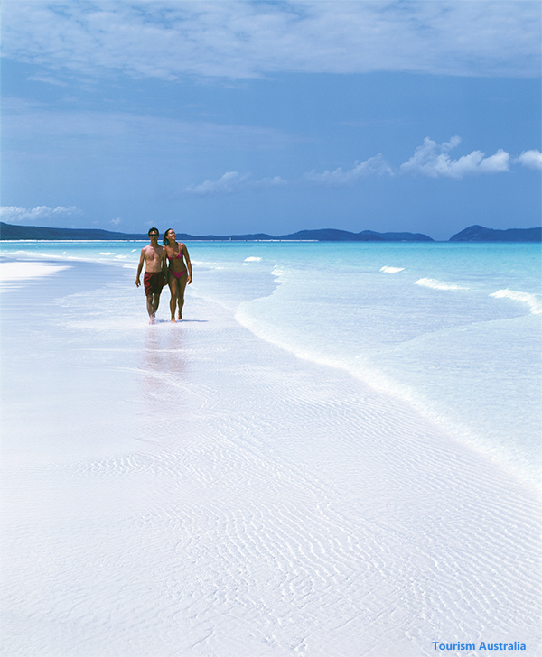 Walking on Whitehaven Beach