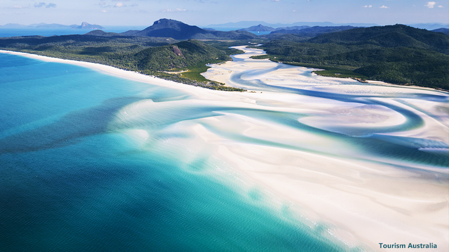 Whitehaven Beach Hill Inlet, Places to Visit in Australia