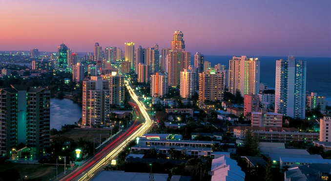 Gold Coast at Night. Photo Credit: Tourism & Events Queensland