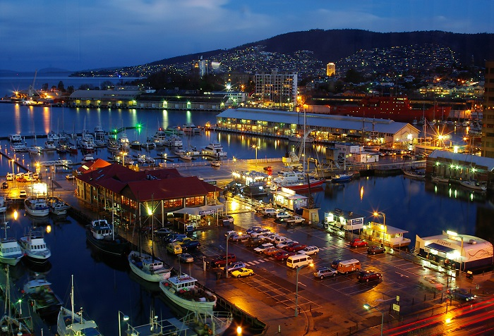 Hobart Waterfront at Night
