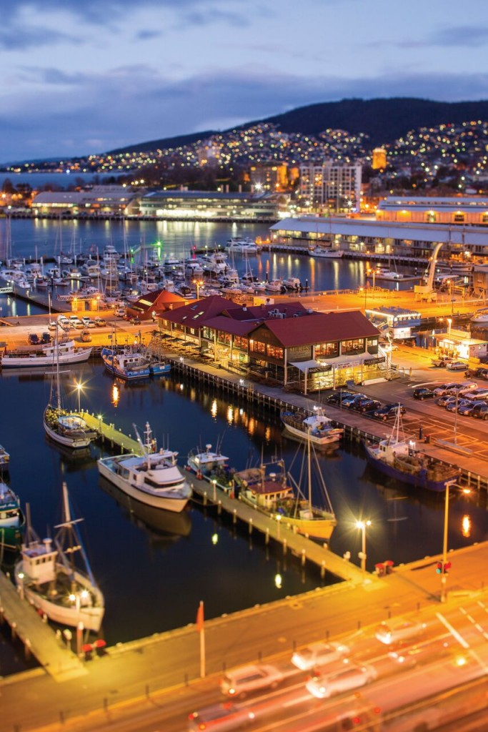 Hobart Waterfront. Photo Credit: Tourism Tasmania & Samuel Shelley