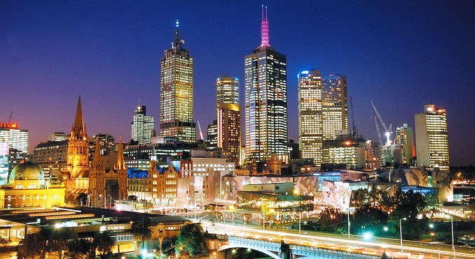 Melbourne by Night. Photo Credit: Visit Victoria