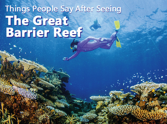 Things People Say After Seeing the Great Barrier Reef