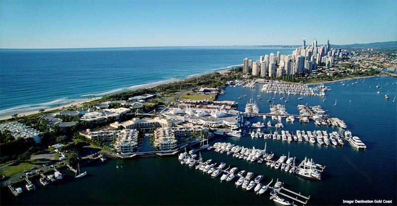 Broadwater Marina Mirage Aerial