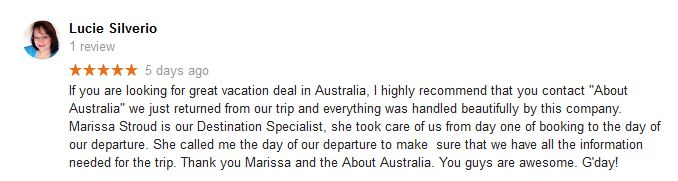 Lucie Silverio best Australia travel agency reviews