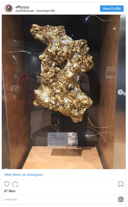 Gold Nugget in Gold Museum Ballarat