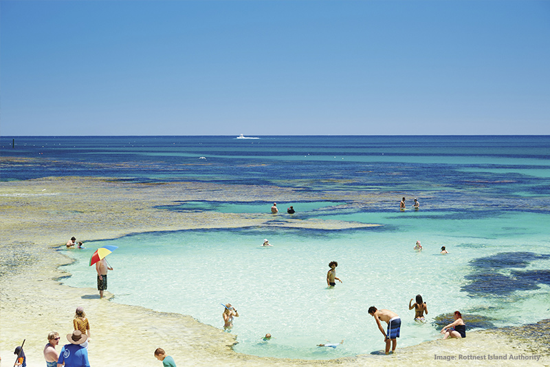 The Basin, Rottnest Island credit Rottnest Island Authority