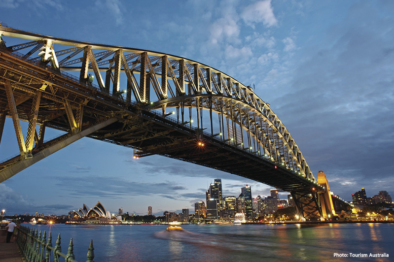 Sydney Harbour Bridge credit Tourism Australia