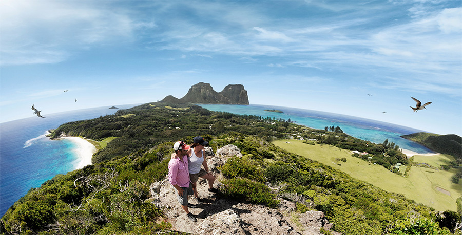 Couple at lookout on Lord Howe Island