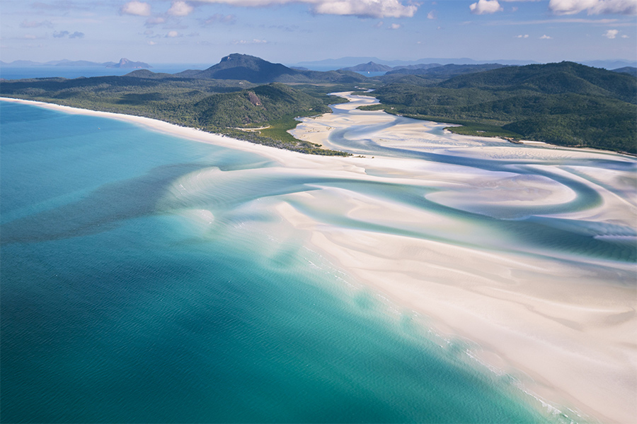 Whitehaven Beach from Hill Inlet credit Tourism Australia