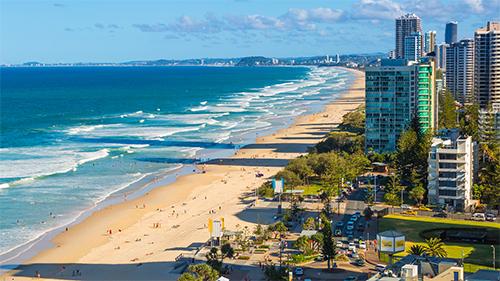 Aerial Surfers Paradise coastline credit Destination Gold Coast
