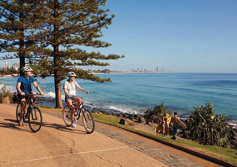 Cycling in Gold Coast credit Tourism & Events Queensland