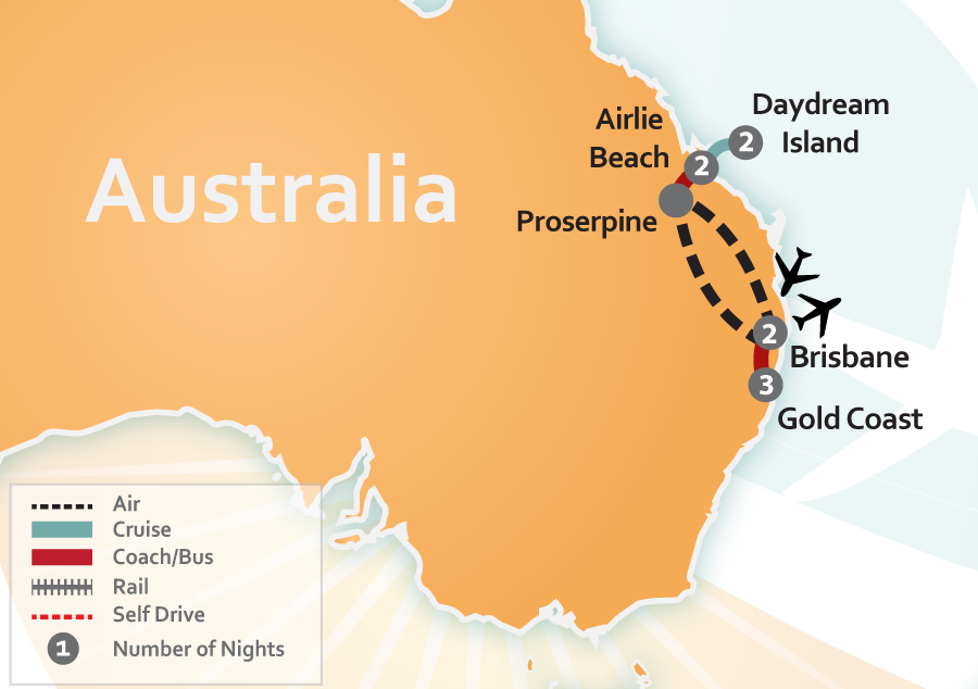 Gold Coast, Whitsundays & Brisbane Vacation