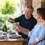 Couple enjoying wine at Jacob's Creek Jacob's Estate credit John Montesi